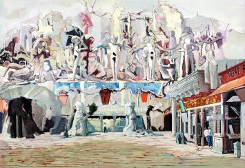Marc-Antoine Fehr · The Kingdom of Death, 2016, Öl auf Leinwand. 203 x 293 cm. Courtesy the artist and Galerie Peter Kilchmann, Zürich