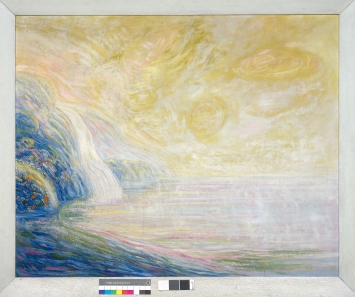 Albert Trachsel · Traumlandschaft, um 1910, Öl auf Leinwand, 105x130cm, Schenkung Margrit Powell-Kottmann, Kunstmuseum Solothurn