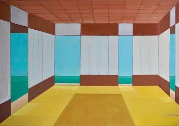Irma Ineichen · Die vier Öffnungen, 2000/2009, Öl auf Leinwand, 70x100 cm.Foto: Tobias Ineichen
