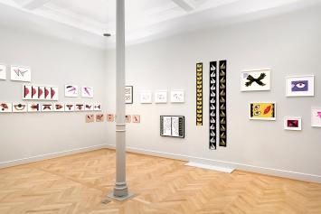 Geta Brătescu · Ausstellungsansichten Kunstmuseum St.Gallen, 2020.Foto: Sebastian Stadler