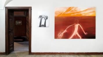 Miriam Cahn · Fremd das fremde, Ausstellungsansichten Palazzo Castelmur, Stampa-Coltura, 2021