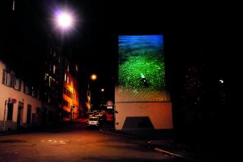Lina Scheynius · Amanda in Switzerland, Summer 2013, Fotoprojektion, Stadtprojektionen II, St.Gallen, 2017