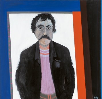 Ernst Ramseier · Selbstbildnis, 1977, Dispersion auf Leinwand, 105x108,5cm, Sammlung Kunstmuseum Thun.Foto: Christian Helmle
