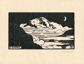 Félix Vallotton, La Jungfrau, 1892, Xylographie auf Velinpapier, 252x327mm, Cabinet d'arts graphiques des Musées d'art et d'histoire, Genève, Don Lucien Archinard