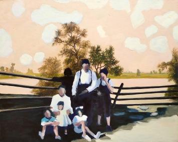Heike Müller · double painting 8, 2017, Öl auf Leinwand, 40x50cm