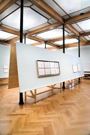 Irene Kopelman · On Glaciers and Avalanches, 2018, Installationsansicht Graphische Sammlung ETH Zürich.Foto: Livio Baumgartner