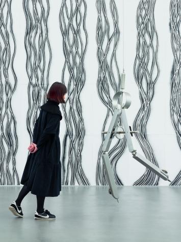 Robin Rhode · Ausstellungsansicht Museum Haus Konstruktiv, 2018, Courtesy kamel mennour, Paris/London.Foto: Stefan Altenburger