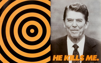 Donald Moffett · He Kills Me, 1987, Lithographie, Courtesy Marianne Boesky Gallery, New York/Aspen