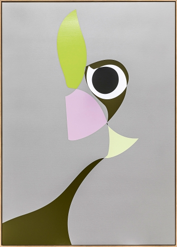 Albrecht Schnider · Ohne Titel, 2019, Acryllack auf Leinwand, 170,5x120,5x4cm