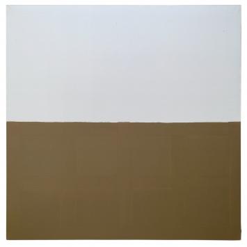 James Bishop · Untitled, 1976, Öl auf Leinwand, 194x194cm