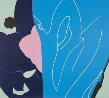 Jessica Russ · Piscine, 2020, Acryl auf Leinwand, 80x90cm
