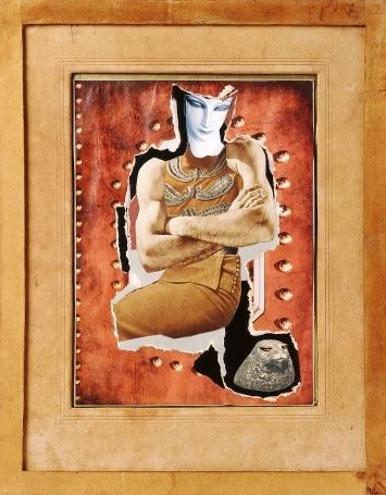 Hannah Höch · Dompteuse, um 1930, Collage und Fotomontage, Klebebänder, Papier auf Karton, Künstlerrahmen mit Wildlederüberzug, Kunsthaus Zürich, Grafische Sammlung ©ProLitteris