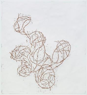 Roni Horn · Yet 2, 2013/2017. Pigment, Graphit, Kohle, Buntstift, Lack auf Papier, 281,3x257,8cm