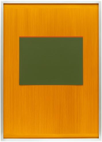 Imi Knoebel · Drunter und Drüber Z36, 2007, Acryl auf Dibond und Kunststoffpapier, 107x76 cm, signiert und datiert verso: Imi 2007