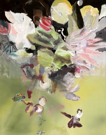 Barbara Ellmerer · Lockdown-Bouquet, 2020, Öl auf Leinen, 160x125 cm