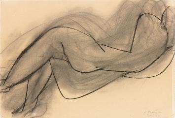 Henri Matisse · Nu couché de dos, 1944, Kohle auf Büttenpapier, 38,2x56,6cm, Musée Matisse, Nizza ©ProLitteris.Foto: François Fernandez