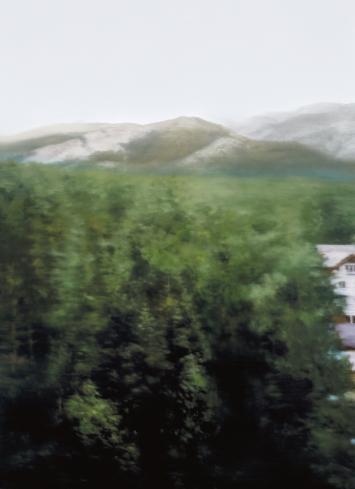 Gerhard Richter · Waldhaus, 2004, Öl auf Leinwand, 126x92cm, Privatsammlung