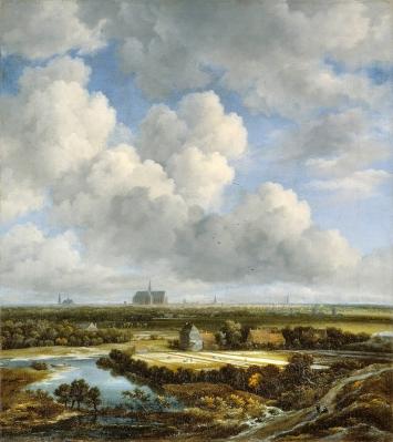 Jacob van Ruisdael · Die Bleichen von Haarlem, um 1670/1675, Öl auf Leinwand, 62x55cm, Kunsthaus Zürich, Ruzicka-Stiftung