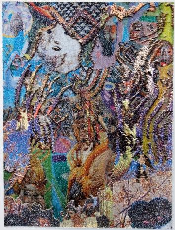Olga Titus · Ohne Titel, 2019, Paillettenbild, 100x130cm, Courtesy Tart Zürich