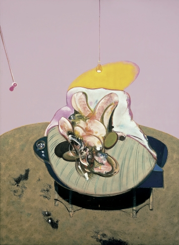 Francis Bacon, Lying Figure, 1969, Öl auf Leinwand, 198 x 147.5 cm, Fondation Beyeler, Riehen/Basel, Sammlung Beyeler, © The Estate of Francis Bacon. All rights reserved / 2018, ProLitteris, Zurich, Photo: Robert Bayer