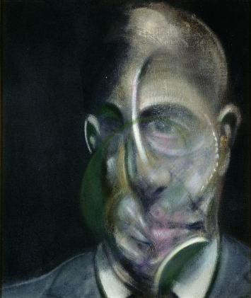 Francis Bacon, Portrait of Michel Leiris, 1976, Öl auf Leinwand, 34 x 29 cm, Centre Georges Pompidou, Musée National d'Art Moderne, Schenkung Louise und Michel Leiris, 1984, © The Estate of Francis Bacon. All rights reserved / 2018, ProLitteris, Zurich, Photo: © Centre Pompidou, MNAM-CCI, Dist. RMN-Grand-Palais / Bertrand Prévost