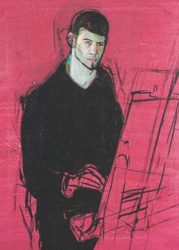 Balz BaechiA.H. malt sich selbst,1998Öl auf Leinwand80 x 50 cm