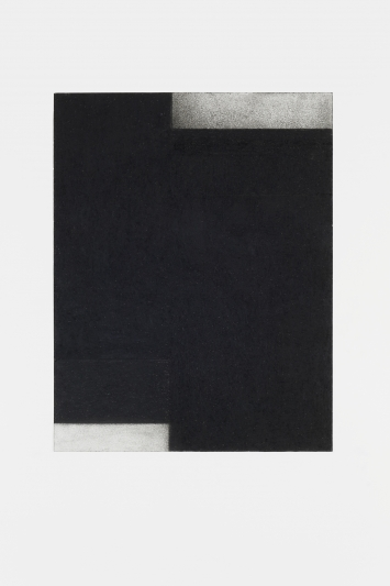 Barbara Dörffler, o.t. (für morton feldman) 2018, Kohle+Kreide auf Papier