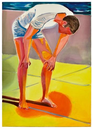 Marc Bauer, Exhaustion, 2020, Öl auf Leinwand, 70 x 50cm, Courtesy Galerie Peter Kilchmann