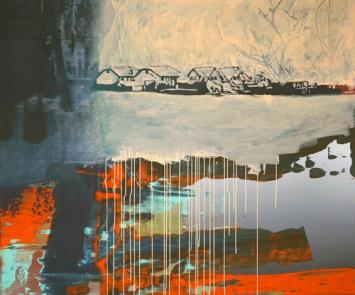 Felix Brunner - «Dorf», Malerei