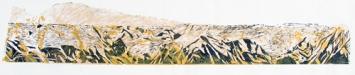 Eva Gallizzi - «Wenn statt Gletschern Alpen glühn», Serie Holzschnitt