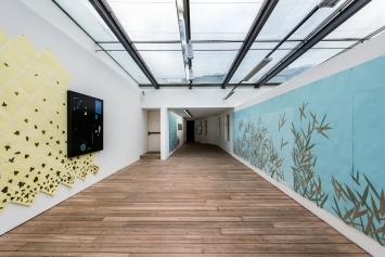 Alek O.,Black Mirror, 2018, Installationsansicht,Foto: Ivo Corrà©2018