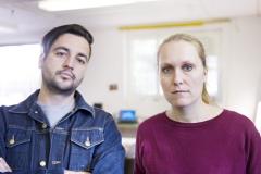 !Mediengruppe Bitnik, Domagoj Smoljo und Carmen Weisskopf, 2016. Foto: Florian Bachmann