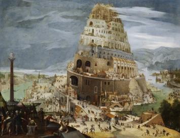 Abel Grimmer, Der Turm von Babel, 1604, Galerie de Jonckheere, Genf. CourtesyGaleriede Jonckheere