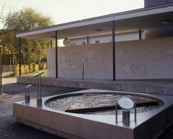 Andres Bosshard, «gutstrasse GALAXY», 2001, Schulanlage Im Gut, Fachstelle Kunst und Bau, Amt für Hochbauten, Stadt Zürich, Foto: Hannes Henz