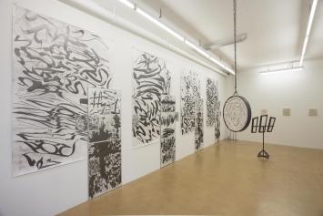 Samuli Blatter / Martin Chramosta, Beige Metal, 2018, AusstellungsansichtAlpineum Produzentengalerie, Luzern.Foto: Andri Stadler