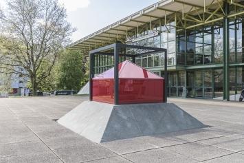David Bürkler, Installationsplastik, 1984, Kunst im öffentlichen Raum der Stadt St. Gallen, Fotografie: Anna-Tina-Eberhard, St. Gallen