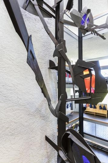 Walter Burger, Lebensbaum, 1968, Kunst im öffentlichen Raum der Stadt St. Gallen, Fotografie: Anna-Tina-Eberhard, St. Gallen