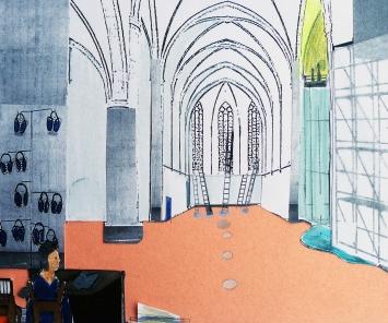 Katharina Hohmann, Inventur, 2018, Kunsthalle OsnabrückAus einer Serie von 25 Collagen, Fotokopien, Buntpapier, farbige Stifte© Katharina Hohmann