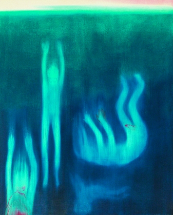 Blau, 21.7.2017, Öl auf Leinwand, 280x225cm, Courtesy Galerie Jocelyn Wolff, Paris und Meyer Riegger, Berlin/Karlsruhe