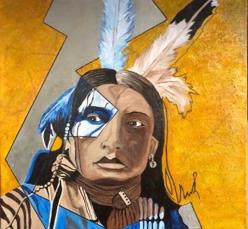 Chief Eagle's Eye Leinwand 50 x 50 x 4cm100% BW 380gr/m2Acrylfarben Mix-Media