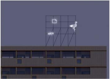 CKÖ, «Pfingstweider», 2019, Schulanlage Pfingstweid, Fachstelle Kunst und Bau, Amt für Hochbauten, Stadt Zürich, Abbildung: Visualisierung CKÖ