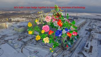 Copa & Sordes - «Chernobyl Rose Hedge», Interaktives Internetprojekt als Denkmal zum Supergau von 1986