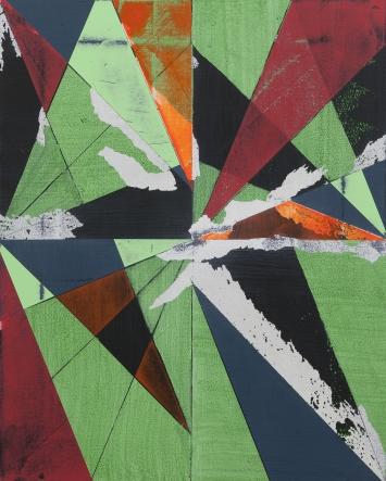 Davix, o.T., Acryl auf Leinwand, 50 x 40cm, 2017