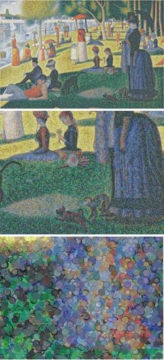 Cap Seurat, in 3 Tafeln, aus der Serie Running Numbers