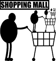 Logo für die Ausstellung Shopping Mall