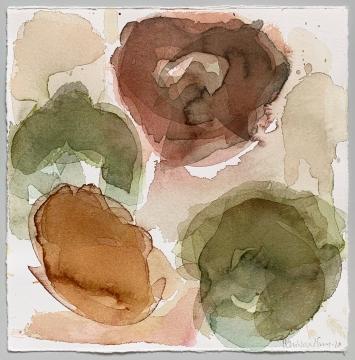 Maria Wallenstal-Schoenberg, Aquarell 25 x 25 cm,