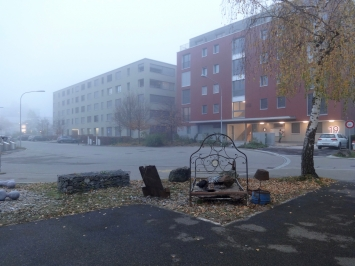 KuBaA,Chiara Fiorini, ‹Flussbett›, 2018, verschiedene Blech- und Eisenobjekte,Foto: Chiara Fiorini