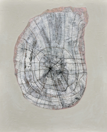 Spontane Frucht 2017Papier, Acryl, Bleistift, Spachtelmasse auf Leinwand80 x 100 cm