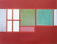 Heinrich Hugentobler, Ohne Titel, 50 x 65 cm,Industriefarben auf Holz, Copyright the artist