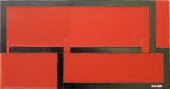 Heinrich Hugentobler, Ohne Titel, 37 x 60 cm,Industriefarben auf Holz, Copyright the artist